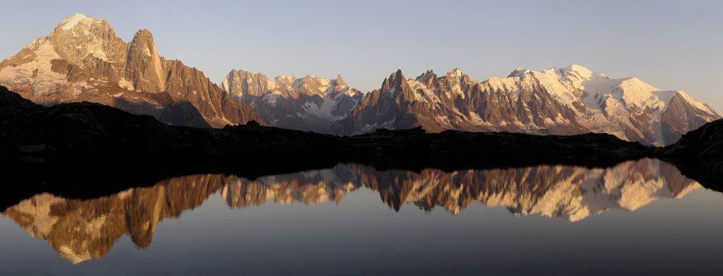 Panoramique Lac blanc - Mont blanc
