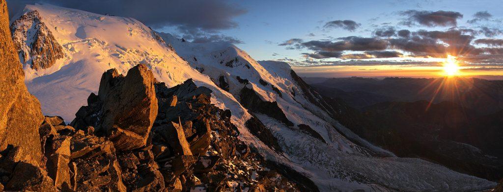 Panoramique refuge des cosmiques Mont Blanc