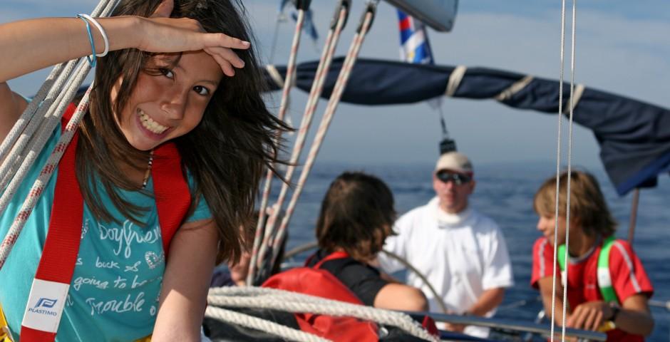 séjour jeunes sur un voilier