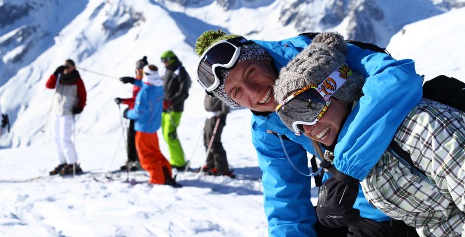 Lifestyle groupe skieurs