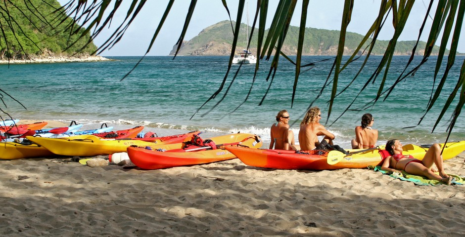 kayak de mer en Guadeloupe