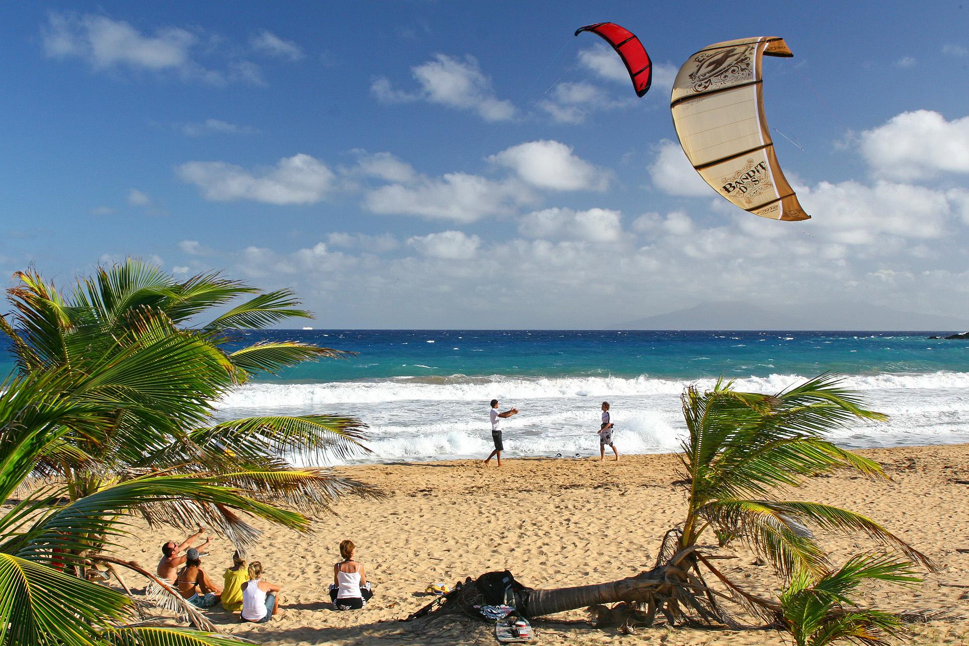 Kite plage de Guadeloupe