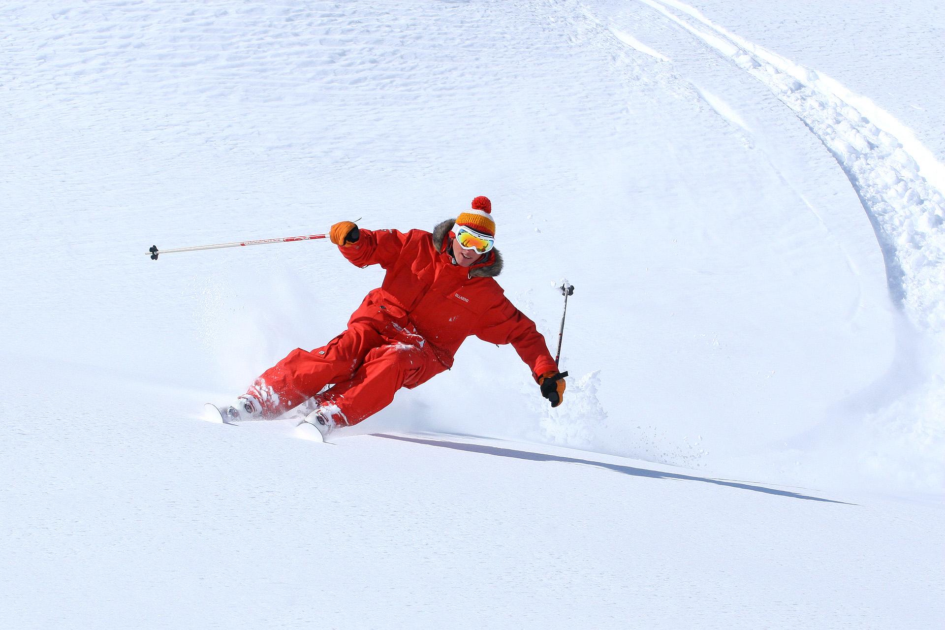 Skieur à la cool