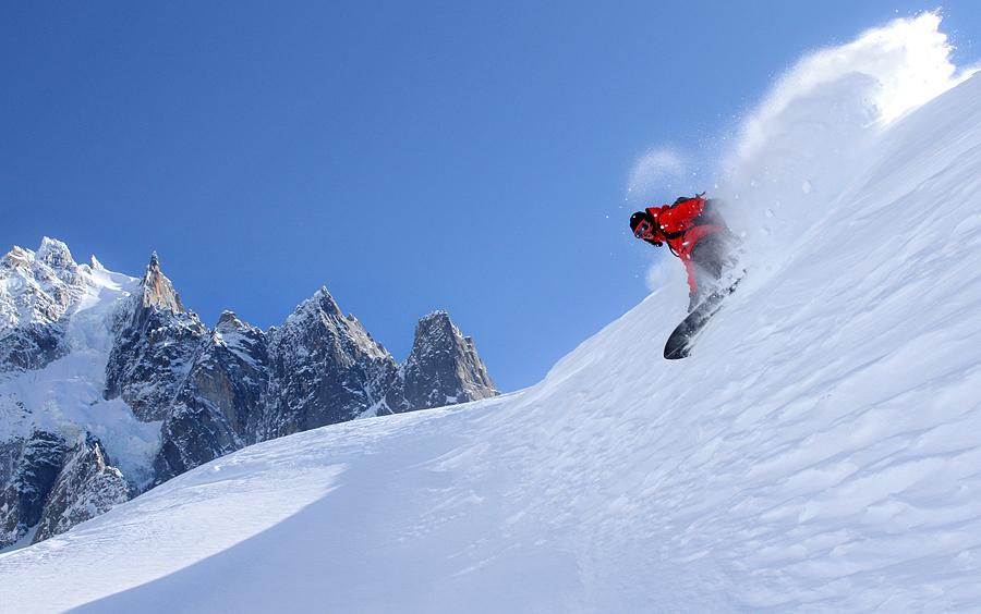 Freeride à Chamonix, rider Arthur Longo