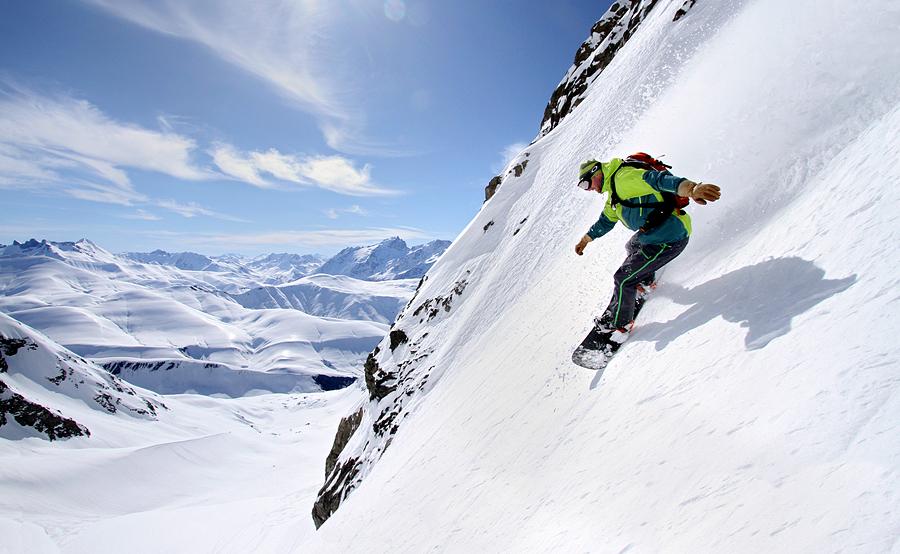 Freeride à l'Alpe d'Huez, rider Luke Maylin